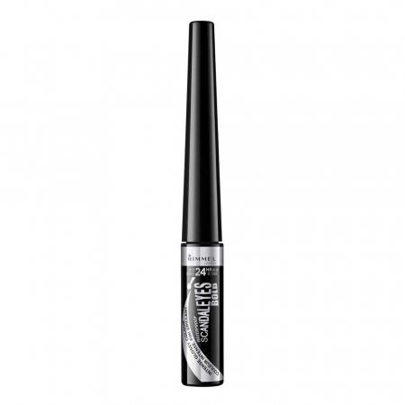 Tus de ochi lichid Rimmel London ScandalEyes Bold Waterproof, Black, 2.5 ml0