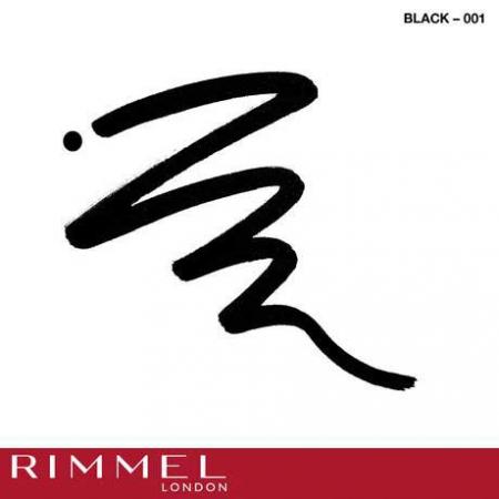 Tus de ochi lichid Rimmel London ScandalEyes Bold Waterproof, Black, 2.5 ml3
