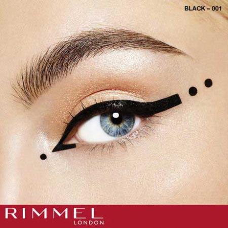 Tus de ochi lichid Rimmel London ScandalEyes Bold Waterproof, Black, 2.5 ml4