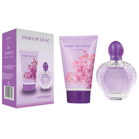 Set Cadou Story Of Lilac cu Apa de Parfum Fine Perfumery, 30 ml si Lotiune de Corp Moisturising Perfumed, 100 ml