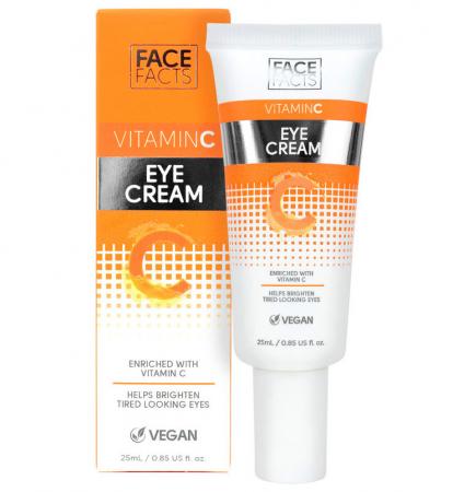 Crema pentru ochi obositi cu Vitamina C, FACE FACTS, 25 ml