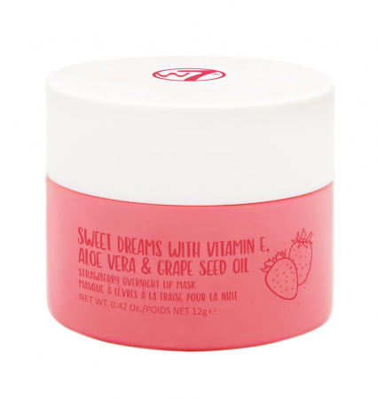 Masca pentru buze cu capsuni W7 Sweet Dreams Strawberry Overnight Lip Mask, 12 g