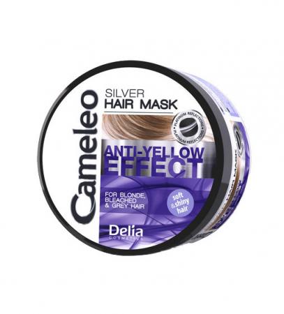 Masca nuantatoare argintie Delia Cameleo pentru par blond si gri, cu efect anti-galben, 200 ml