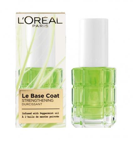 Baza tratament pentru intarirea unghiilor L'Oreal Paris Le Base Coat cu ulei de menta, 13.5 ml