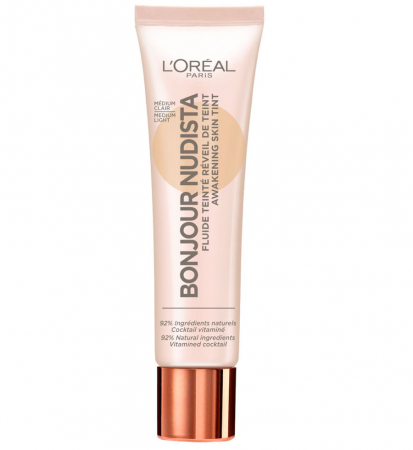 BB Cream L'Oreal Paris Bonjour Nudista, Medium Light, 30 ml