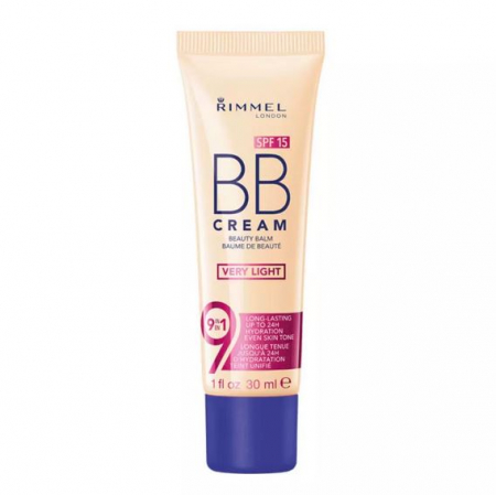 BB Cream Rimmel 9 In 1 Beauty Balm SPF 15 - Very Light, 30 ml