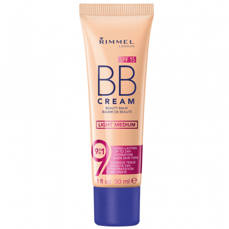 BB Cream Rimmel London 9 In 1, SPF15, Light Medium, 30 ml