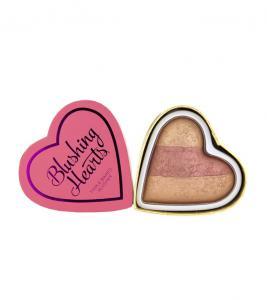 Blush Iluminator Makeup Revolution I Heart Makeup Blushing Hearts - Peachy Keen, 10g0