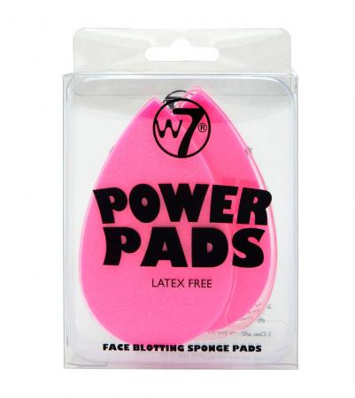 Set 2 bureti pentru indepartarea excesului de ulei de pe ten W7 Power Pads Face Blotting Sponge Pads, fara latex1