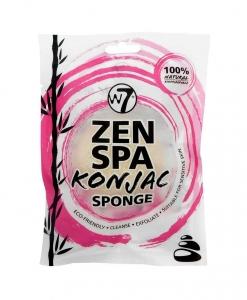 Burete Pentru Exfolierea Fetei W7 Zen Spa Konjac Sponge - White1