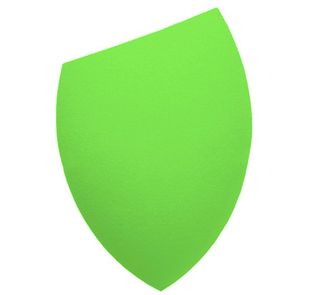 Burete Profesional Lacrima pentru Machiaj, Perfect Blending Cut Teardrop, Light Green