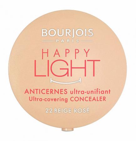 Corector anticearcane Bourjois Paris Happy Light Ultra-Covering, 22 Beige Rose, 2.5 g