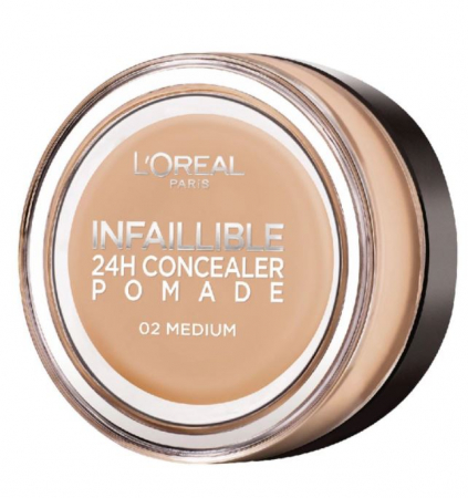 Corector L'Oreal Paris Infallible 24Hr Concealer Pomade, 02 Medium, 15 g