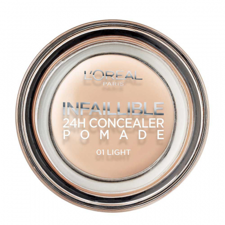 Corector L'Oreal Paris Infallible 24Hr Concealer Pomade, 01 Light, 15 g