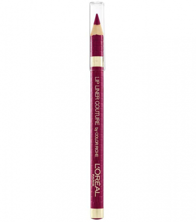 Creion de buze L'Oreal Paris Lip Liner Couture by Color Riche, 374 Intense Plum