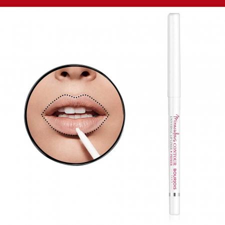 Creion de buze Bourjois Paris Miraculous Contour Universal Lip Liner + Primer, Transparent1