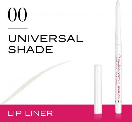 Creion de buze Bourjois Paris Miraculous Contour Universal Lip Liner + Primer, Transparent3