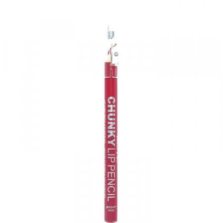 Creion De Buze Technic Chunky Lip Pencil cu ascutitoare, Bright Pink0
