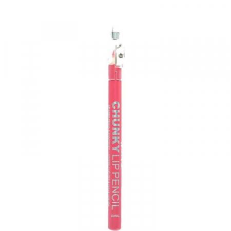 Creion De Buze Technic Chunky Lip Pencil cu ascutitoare, Coral