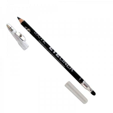 Creion de ochi Technic Eyeliner cu ascutitoare si buretel, Negru