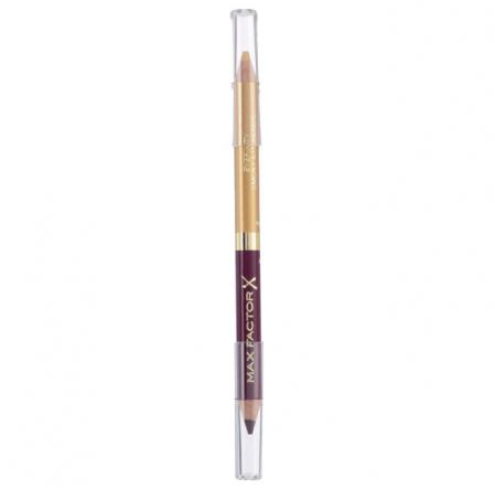 Creion de Ochi Max Factor Eyefinity Smoky Eye Pencil, 03 Royal Violet & Crushed Gold