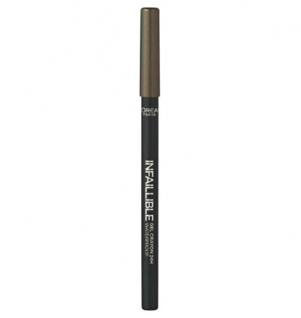 Creion de ochi rezistent la transfer L'Oreal Paris Infaillible Gel Crayon Waterproof 24H, 08 Rest in Kaki