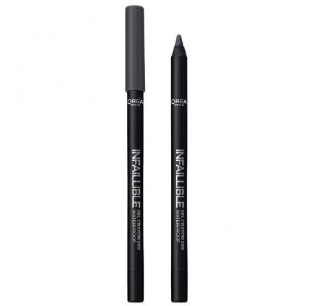 Creion de ochi rezistent la transfer L'Oreal Paris Infaillible Gel Crayon Waterproof 24H, 002 Grey Fever3