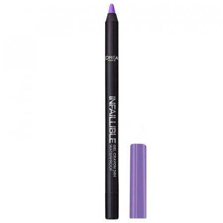 Creion de ochi rezistent la transfer L'Oreal Paris Infaillible Gel Crayon Waterproof 24H, 11 Violet Va-Va-Voum0