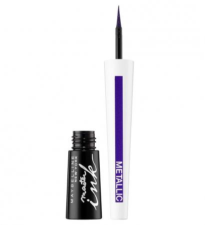 Tus de ochi Maybelline New York Master Ink Liquid Eyeliner, Metallic, 32 Twilight Purple0