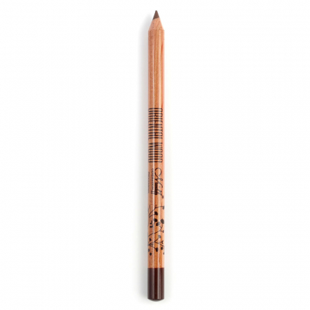 Creion pentru ochi si sprancene M.N din lemn oriental, rezistent la transfer, Maro