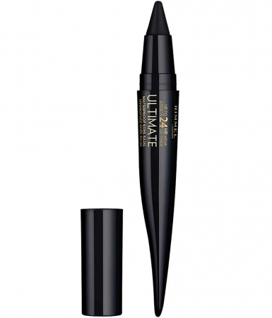 Creion Rimmel London Ultimate Kohl Kajal Waterproof Eyeliner, 01 Black Obsidian, 1.6 g