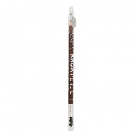 Creion de sprancene Technic Brow Pencil cu ascutitoare si periuta, Brown