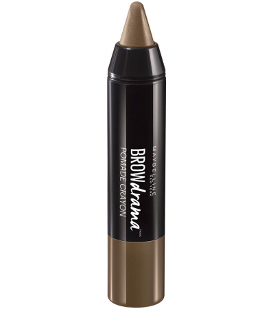 Creion pentru sprancene Maybelline New York BROW Drama Pomade Crayon, Medium Brown