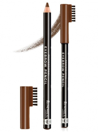 Creion pentru sprancene Rimmel London Professional Eyebrow Pencil, 002 Hazel, 1.4 g1