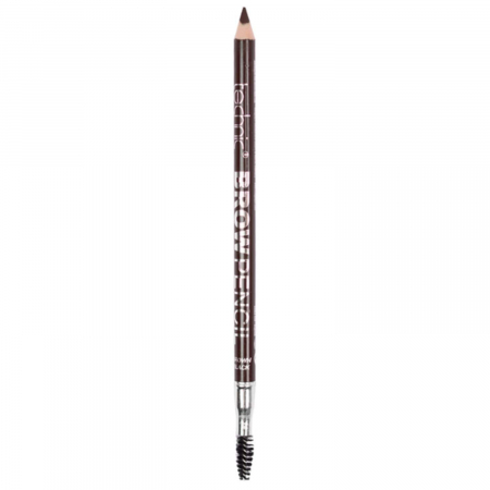 Creion de sprancene Technic Brow Pencil cu ascutitoare si periuta, Brown Black