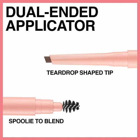 Creion pentru sprancene Maybelline New York Total Temptation Brow Definer, 130 Deep Brow1