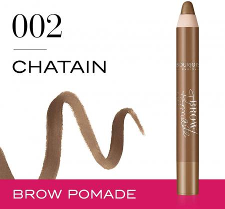 Creion pentru sprancene Bourjois Paris Brow Pomade, 002 Chatain, 3.25 g1