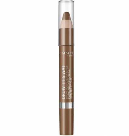 Creion pentru sprancene Rimmel London Brow This Way, 002 Medium, 3.25 g