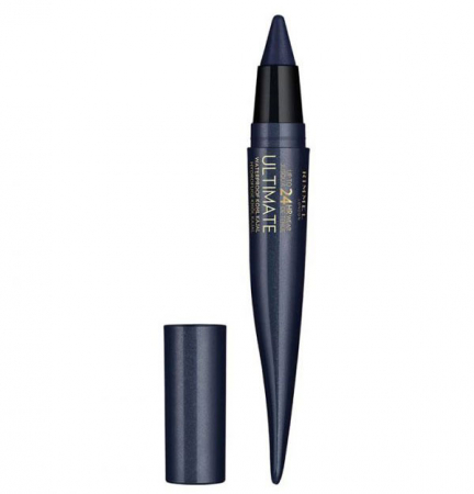 Creion Rimmel London Ultimate Kohl Kajal Waterproof Eyeliner, 004 Carbon Sapphire, 1.6 g