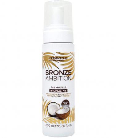 Spuma Autobronzanta Pentru Bronz Instant CREIGHTONS Bronze Ambition cu Apa de Cocos, 200 ml