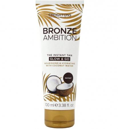 Crema Autobronzanta Pentru Bronz Instant CREIGHTONS Bronze Ambition Glow & Go cu Apa de Cocos, 100 ml