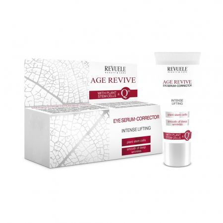Ser corector anti-rid pentru ochi REVUELE Age Revive Eye Contour, Intense Lifting, Plant & Stem Cells, 25 ml