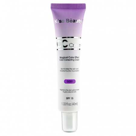 Crema corectoare neutralizatoare anti-pete, Kiss Beauty CC Cream Magical Color Effect, SPF 15, CC01, 40 ml