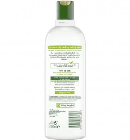 Crema de Baie cu Ulei Natural de Musetel pentru copii, Simple Bubble Bath hypoallergenic, 400 ml1