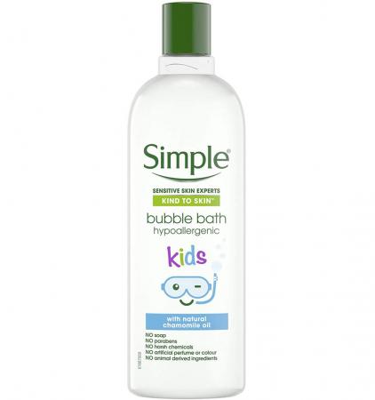 Crema de Baie cu Ulei Natural de Musetel pentru copii, Simple Bubble Bath hypoallergenic, 400 ml
