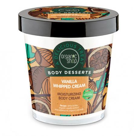 Crema de corp Hidratanta Organic Shop Body Desserts cu frisca de Vanilie, 450 ml