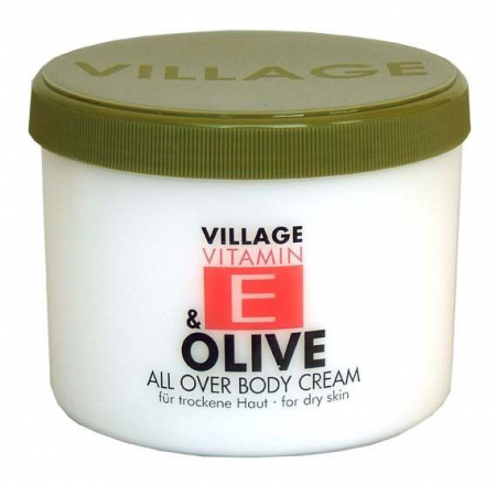Crema De Corp VILLAGE COSMETICS Cu Vitamina E si Ulei De Masline, 500 ml
