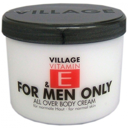 Crema De Corp pentru barbati VILLAGE COSMETICS Cu Vitamina E For Men Only, 500 ml
