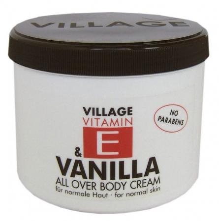 Crema De Corp VILLAGE COSMETICS Cu Vitamina E Si Vanilie, 500 ml