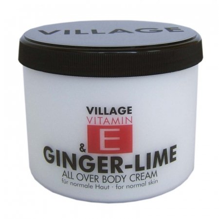 Crema De Corp VILLAGE COSMETICS Cu Ghimbir - Lamaita si Vitamina E, 500 ml